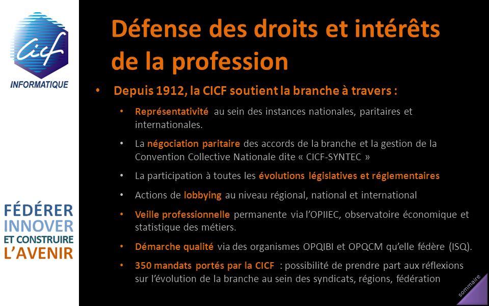 Défense des droits et intérêts de la profession