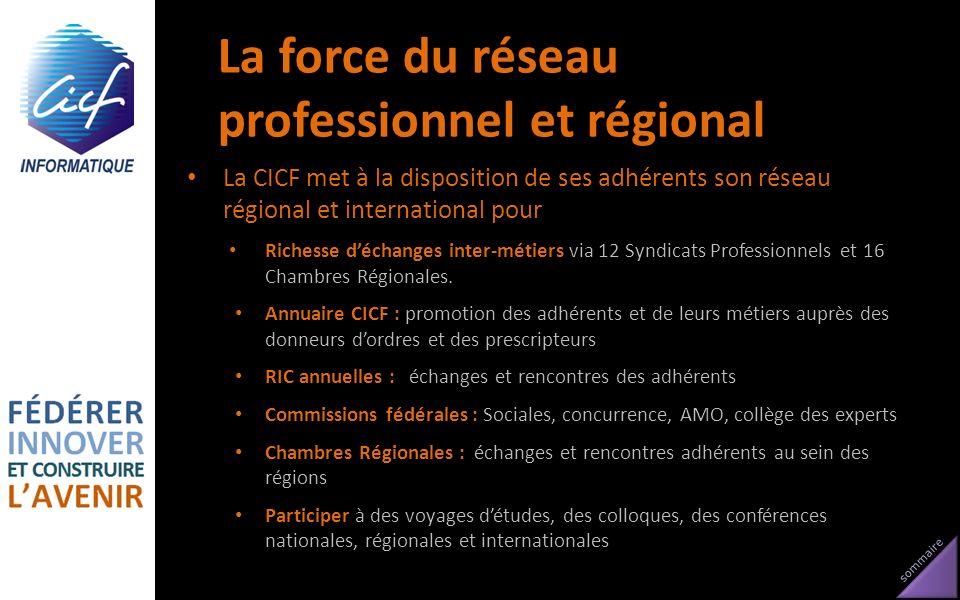 La force du réseau professionnel et régional