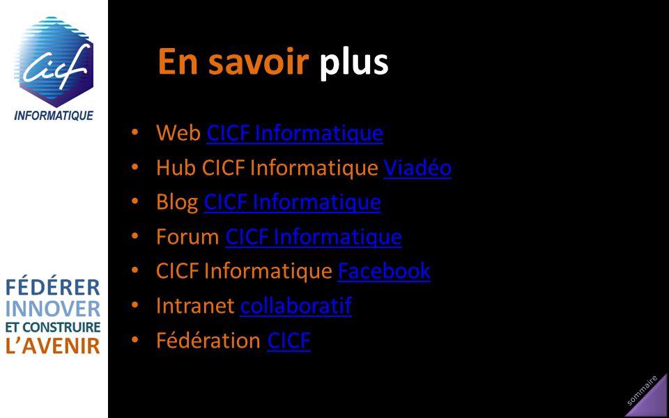 En savoir plus Web CICF Informatique Hub CICF Informatique Viadéo