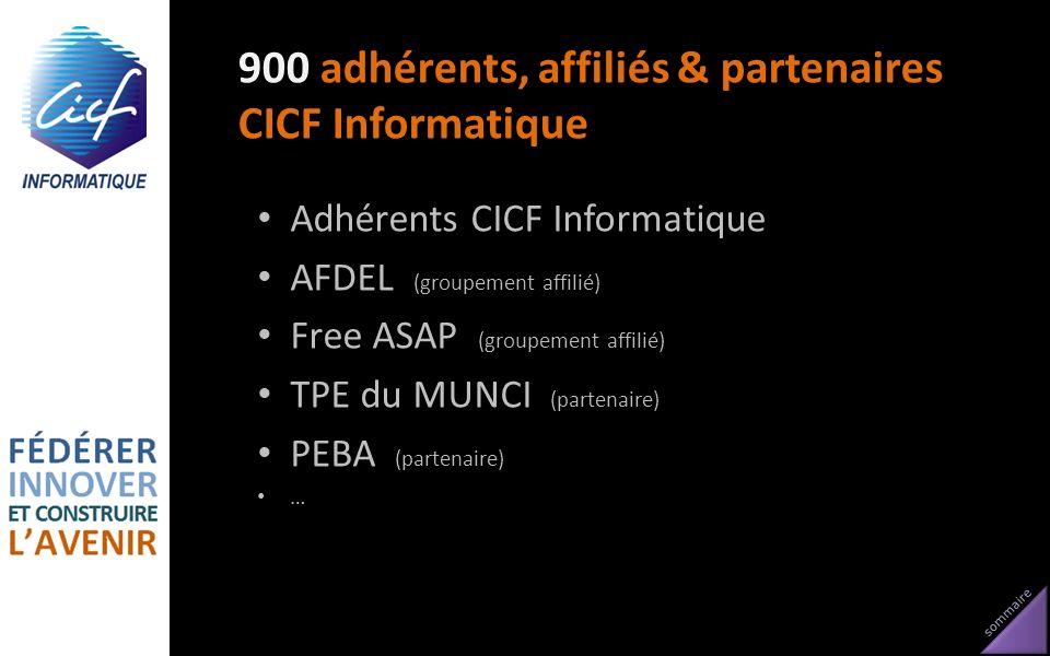 900 adhérents, affiliés & partenaires CICF Informatique