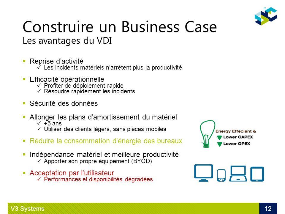 Construire un Business Case Les avantages du VDI