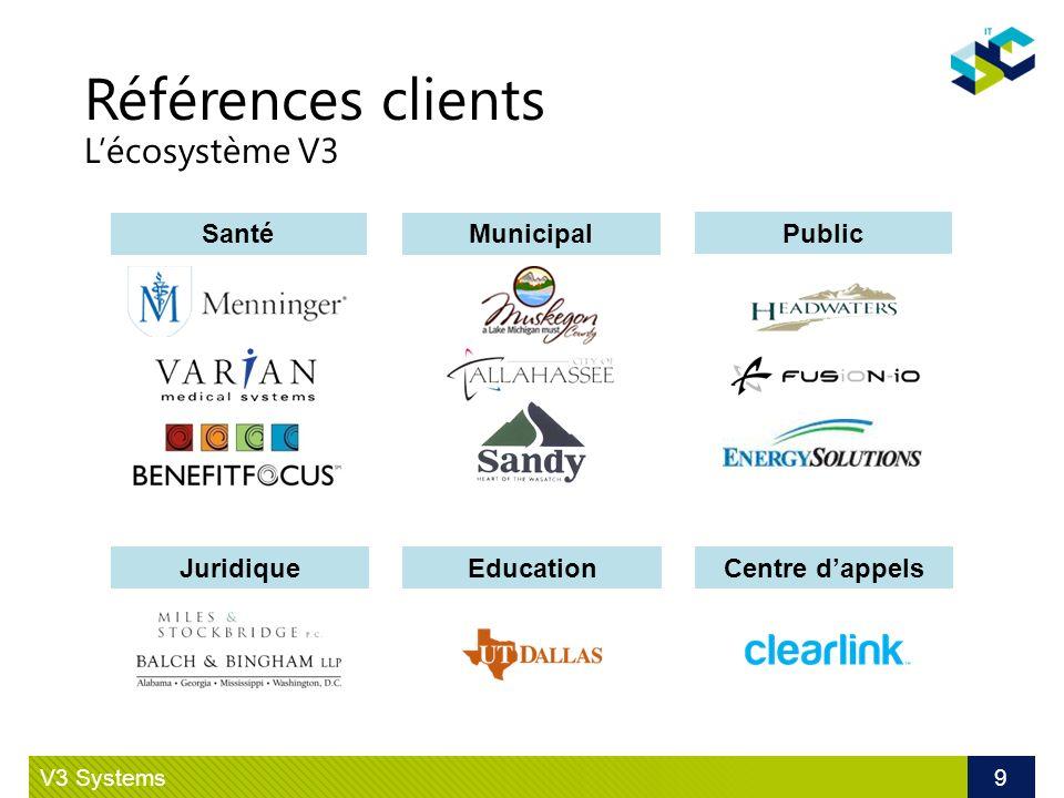 Références clients L'écosystème V3