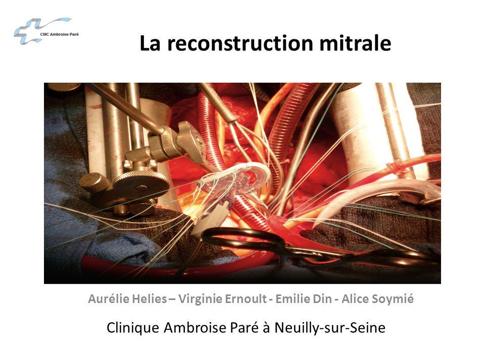 La reconstruction mitrale