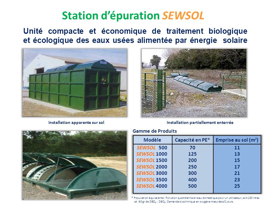 Station d'épuration SEWSOL