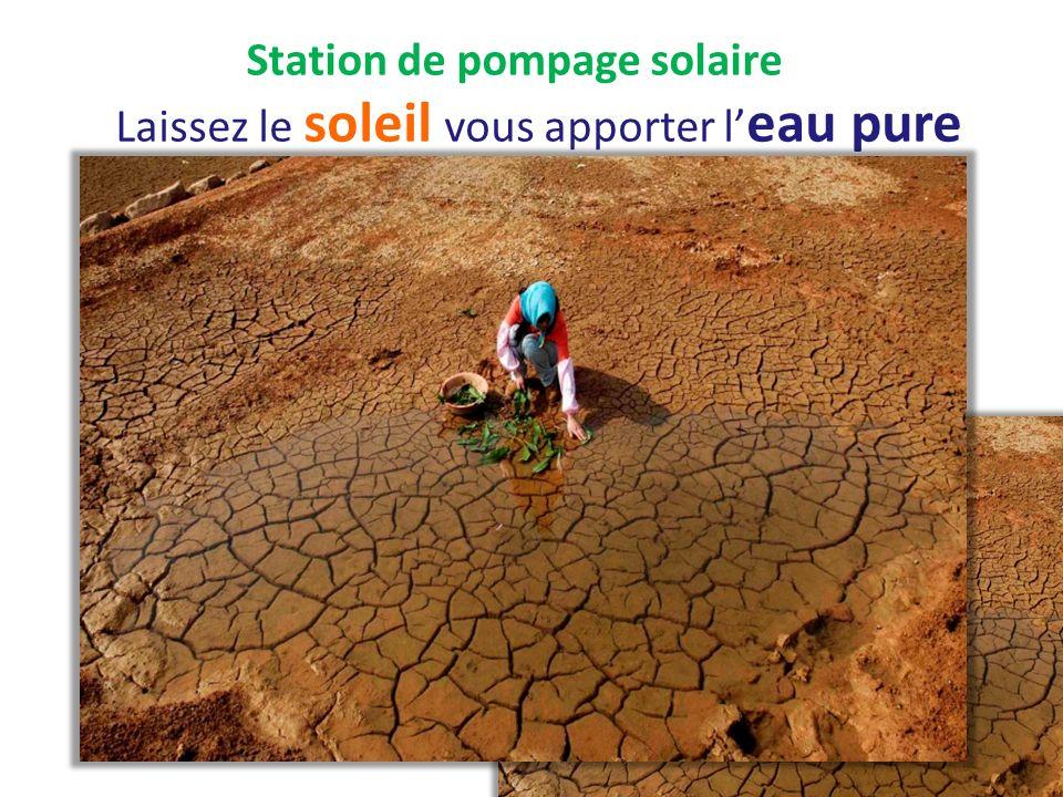 Station de pompage solaire