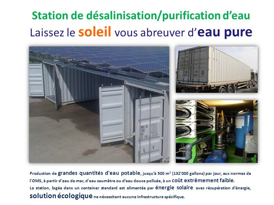 Station de désalinisation/purification d'eau