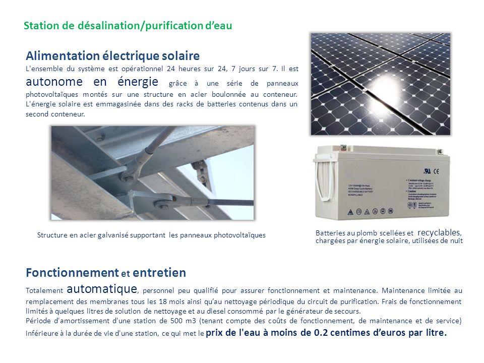 Station de désalination/purification d'eau