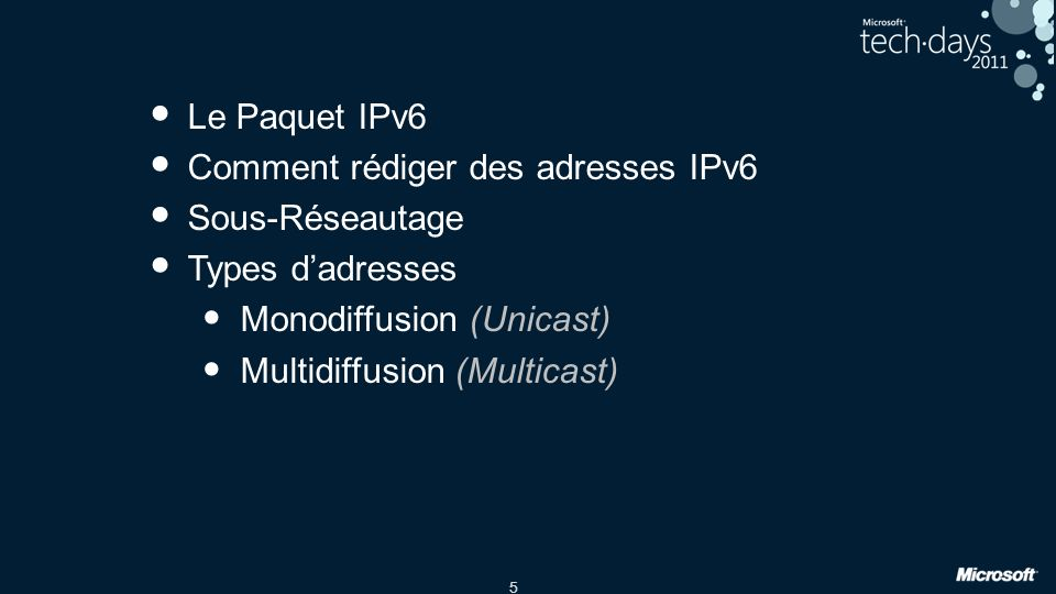 Comment rédiger des adresses IPv6 Sous-Réseautage Types d'adresses