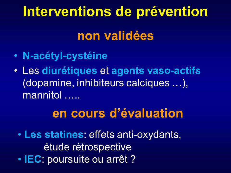 Interventions de prévention non validées