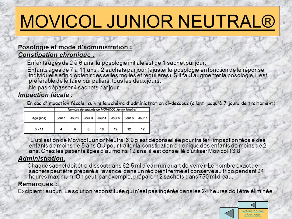 MOVICOL JUNIOR NEUTRAL®