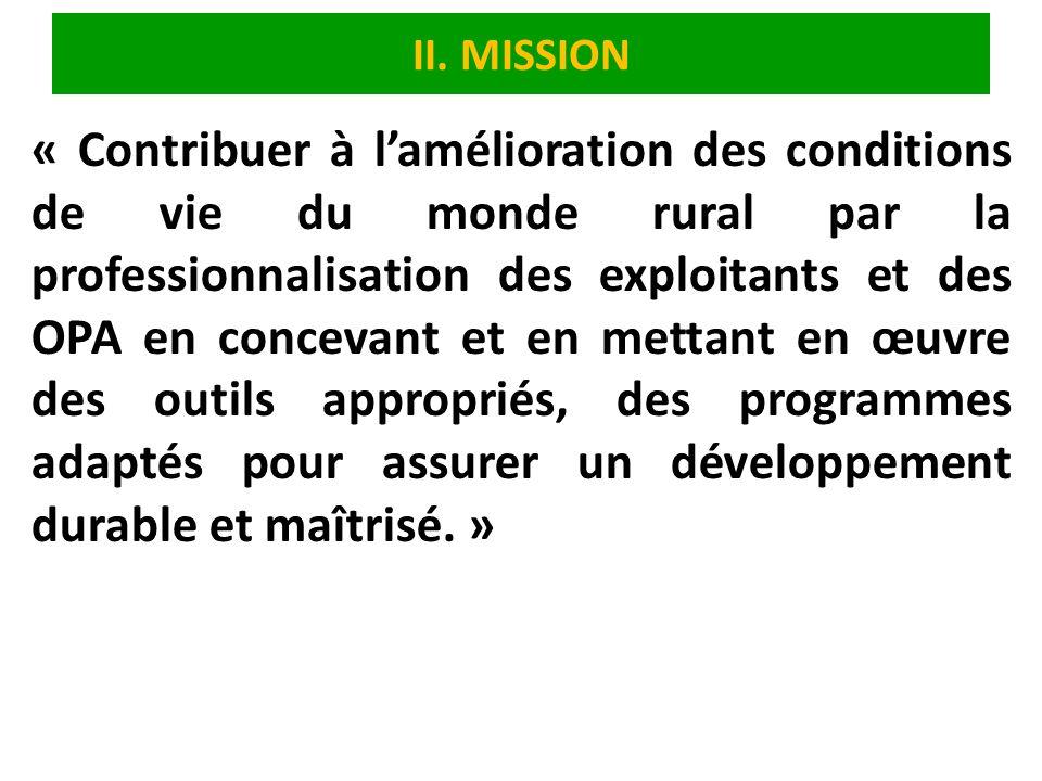 II. MISSION