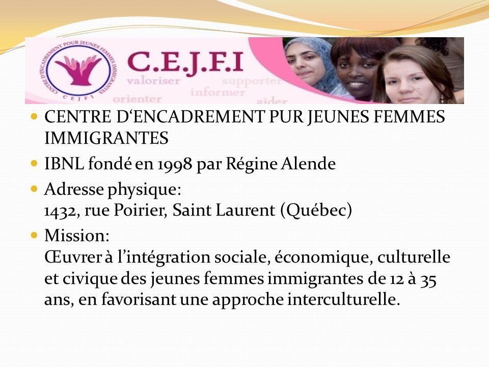 CENTRE D'ENCADREMENT PUR JEUNES FEMMES IMMIGRANTES