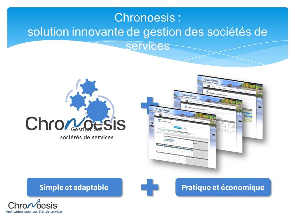 Chronoesis : solution innovante de gestion des sociétés de services