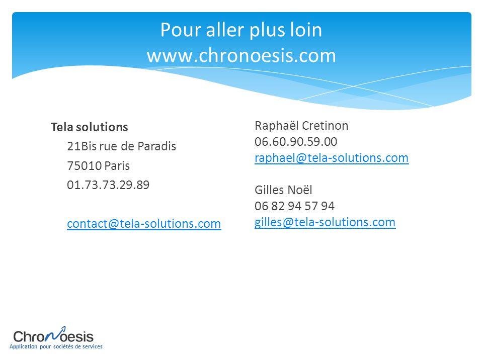 Pour aller plus loin www.chronoesis.com