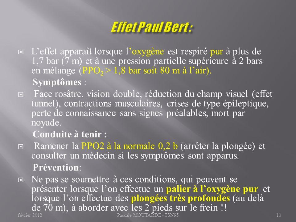 Effet Paul Bert :