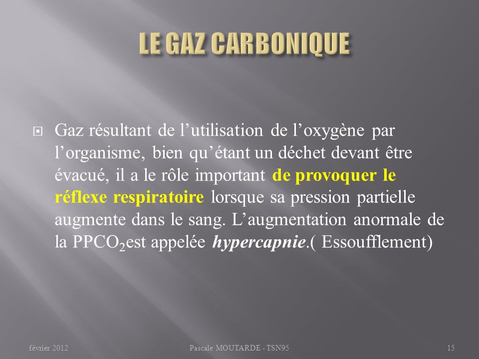 LE GAZ CARBONIQUE