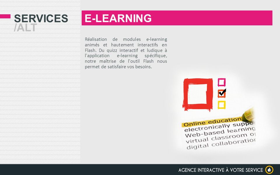 E-LEARNING Services /alt