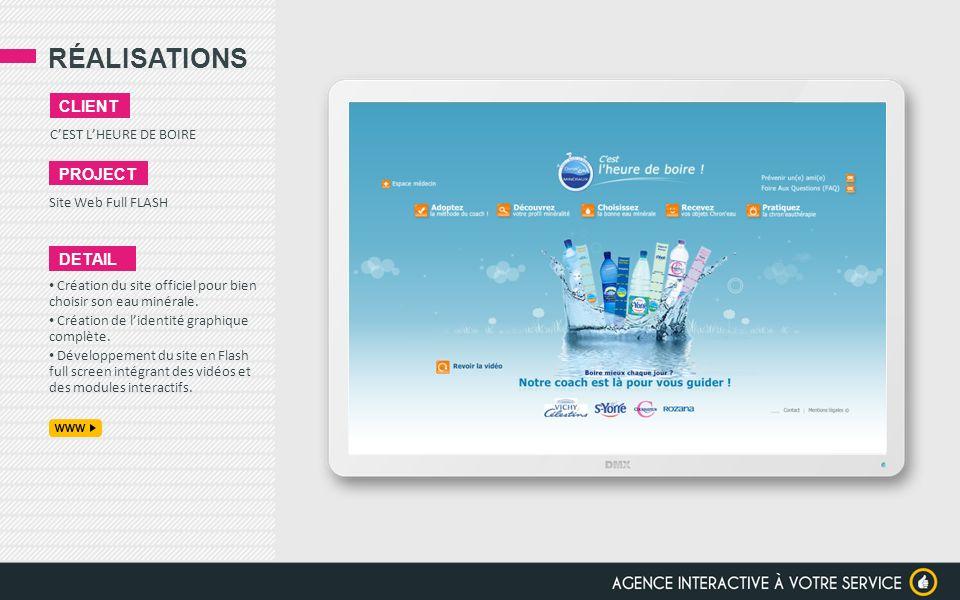 RÉALISATIONS client project detail C'EST L'HEURE DE BOIRE
