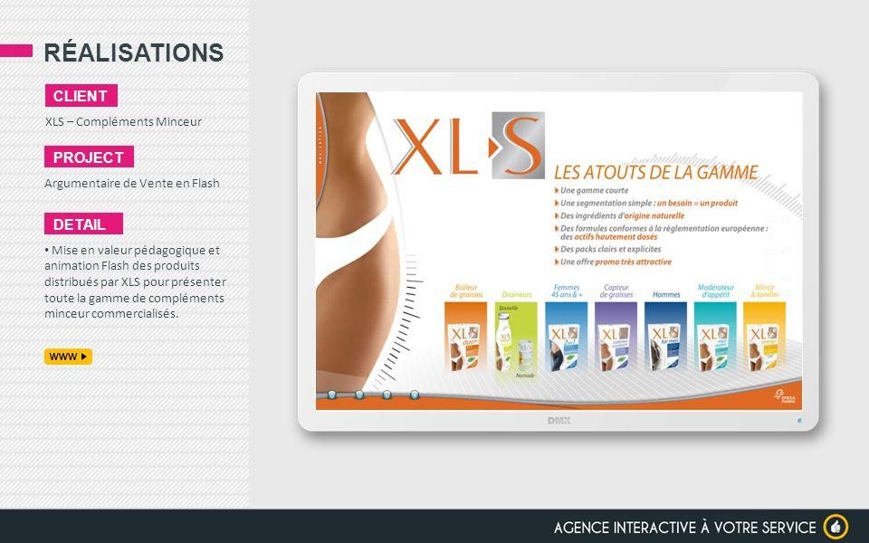 RÉALISATIONS client project detail XLS – Compléments Minceur