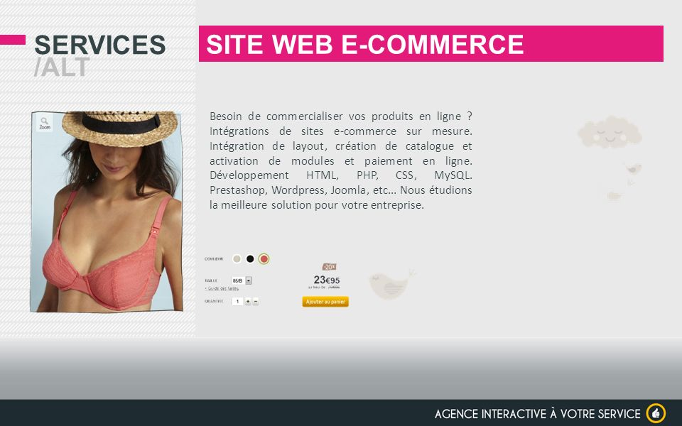 SITE WEB E-COMMERCE Services /alt