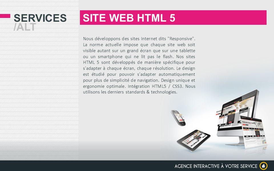 SITE WEB HTML 5 Services /alt