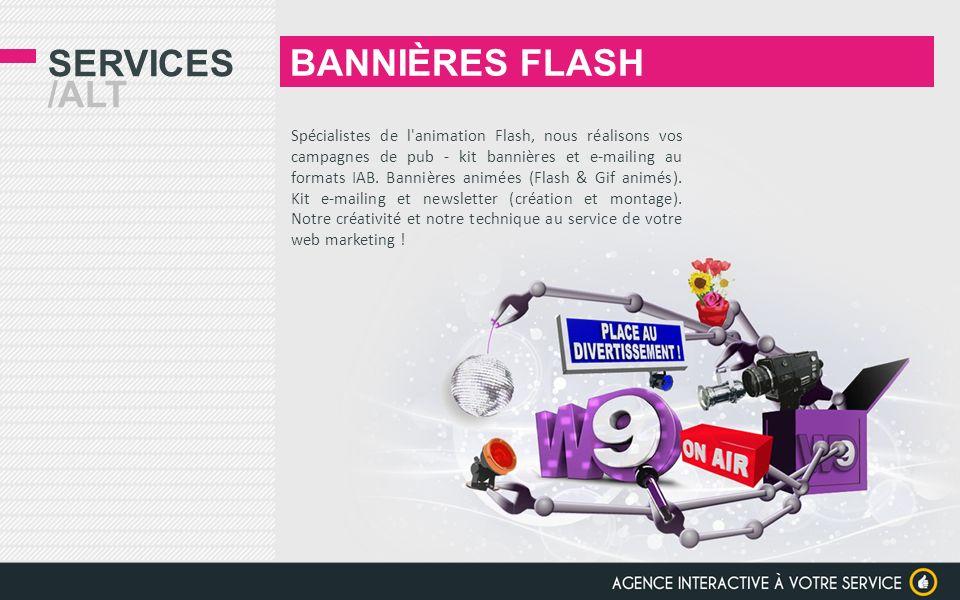 BANNIÈRES FLASH Services /alt