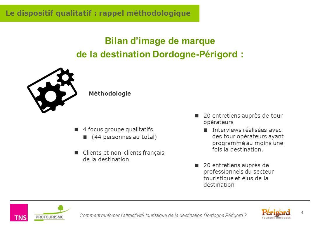 Bilan d'image de marque de la destination Dordogne-Périgord :