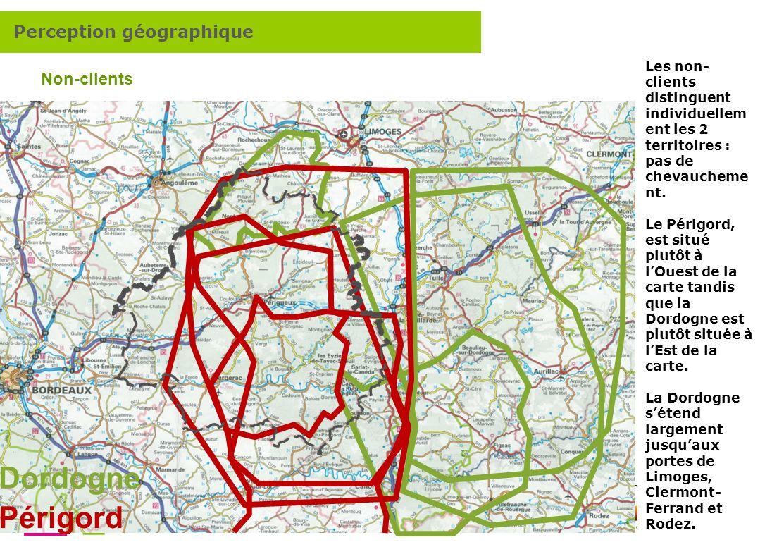 Dordogne Périgord Perception géographique Non-clients