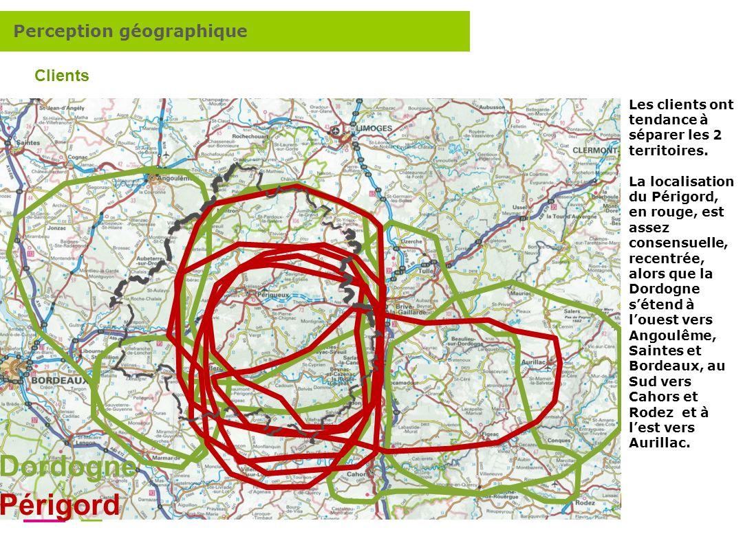 Dordogne Périgord Perception géographique Clients