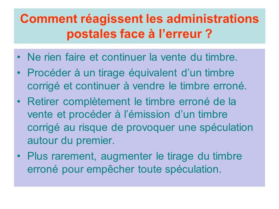 Comment réagissent les administrations postales face à l'erreur