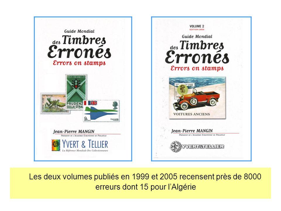 Les deux volumes publiés en 1999 et 2005 recensent près de 8000 erreurs dont 15 pour l'Algérie