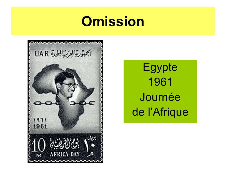 Omission Egypte 1961 Journée de l'Afrique