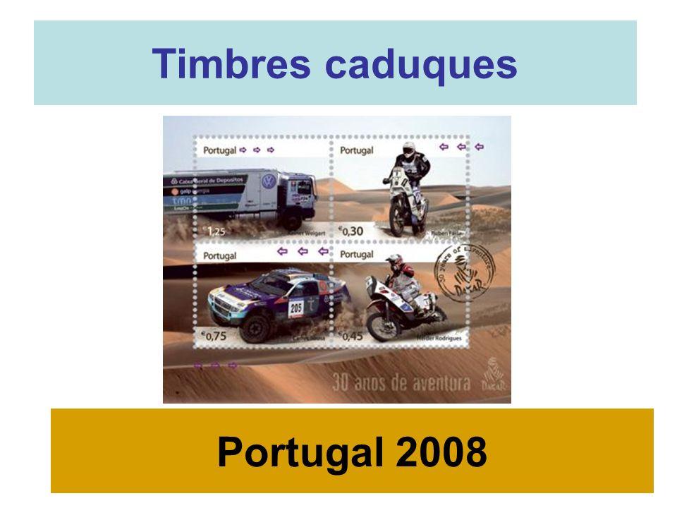 Timbres caduques Portugal 2008