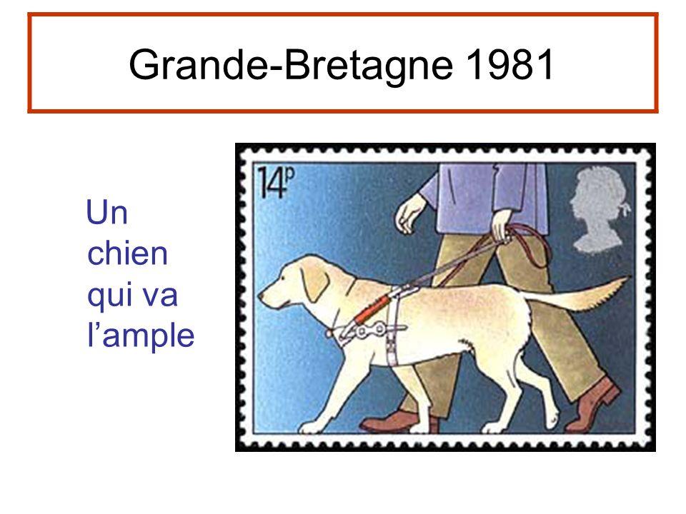 Grande-Bretagne 1981 Un chien qui va l'ample