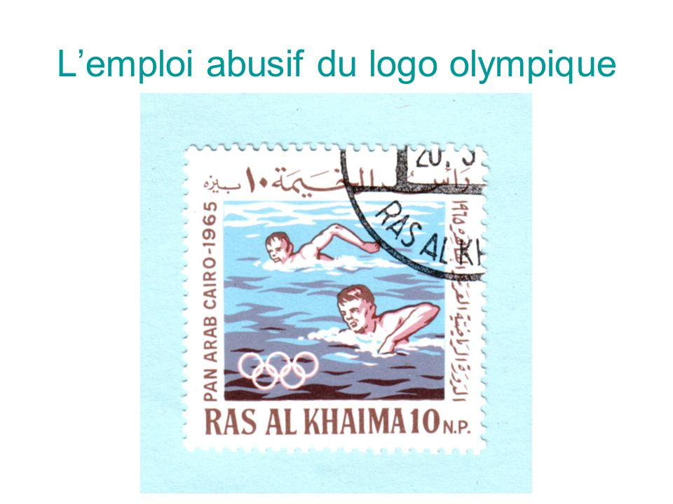 L'emploi abusif du logo olympique