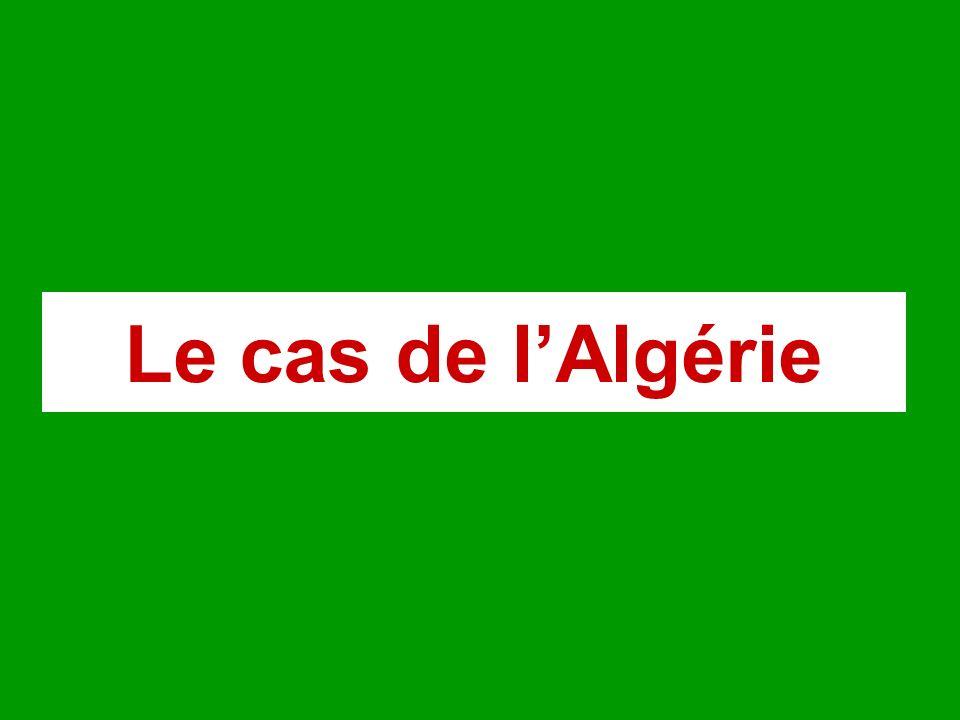 Le cas de l'Algérie