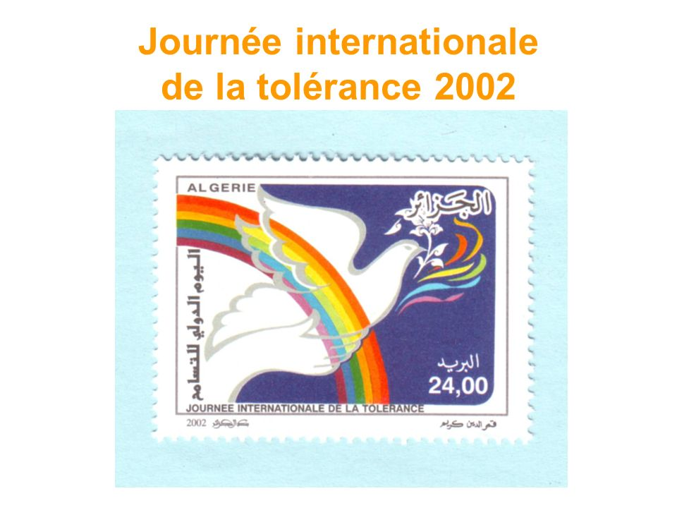Journée internationale de la tolérance 2002