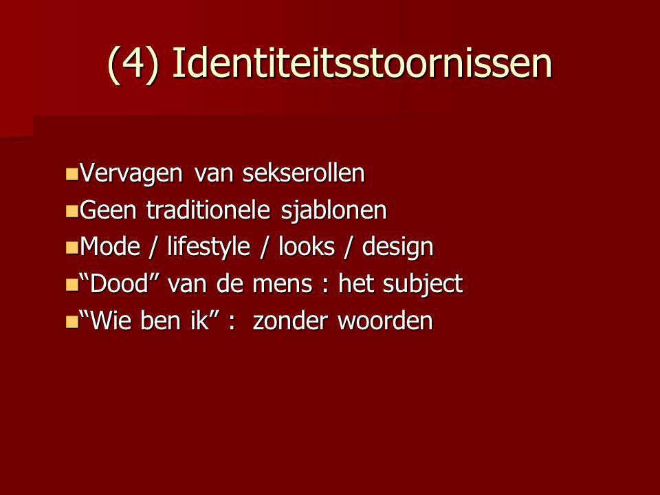 (4) Identiteitsstoornissen