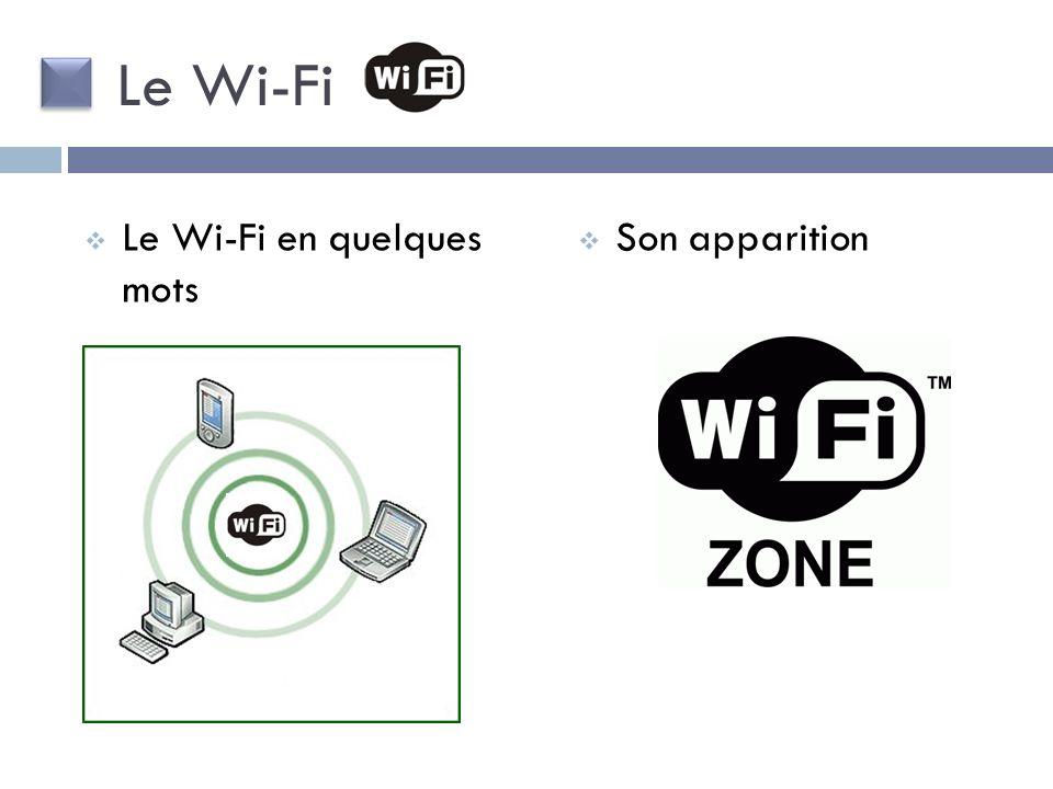 Le Wi-Fi Le Wi-Fi en quelques mots Son apparition
