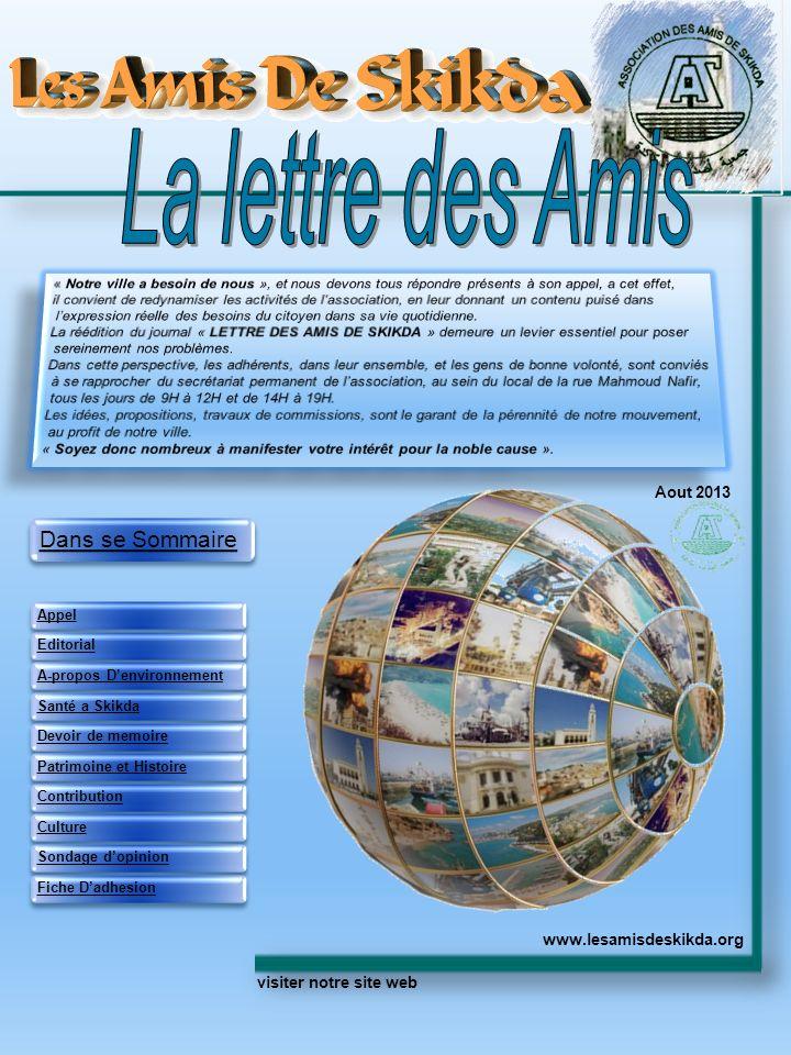 La lettre des Amis Aout 2013 www.lesamisdeskikda.org