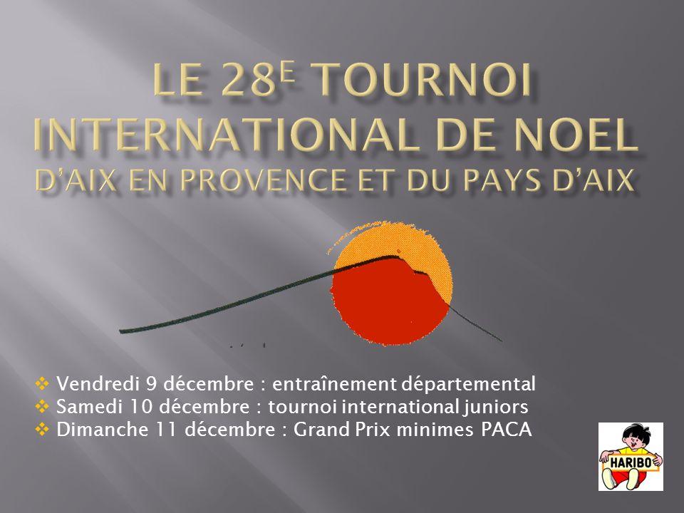 le 28e TOURNOI INTERNATIONAL DE NOEL d'aix en provence et du pays d'aix