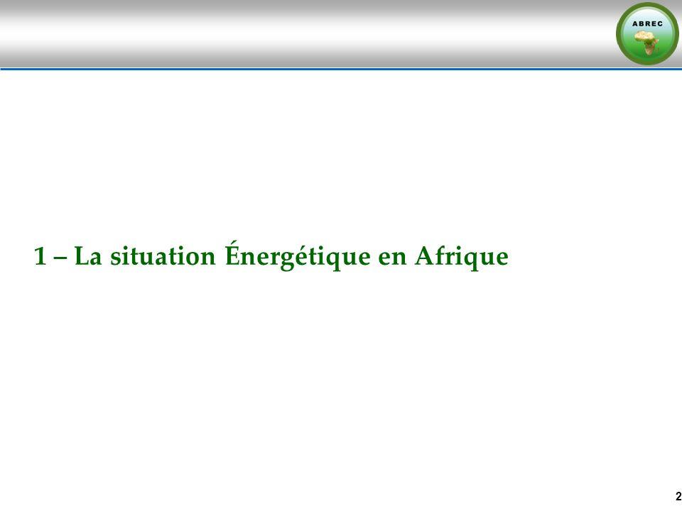 1 – La situation Énergétique en Afrique