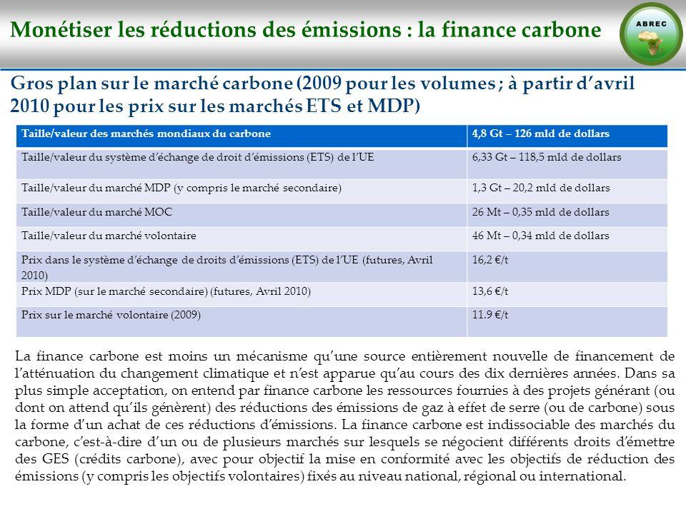 Monétiser les réductions des émissions : la finance carbone