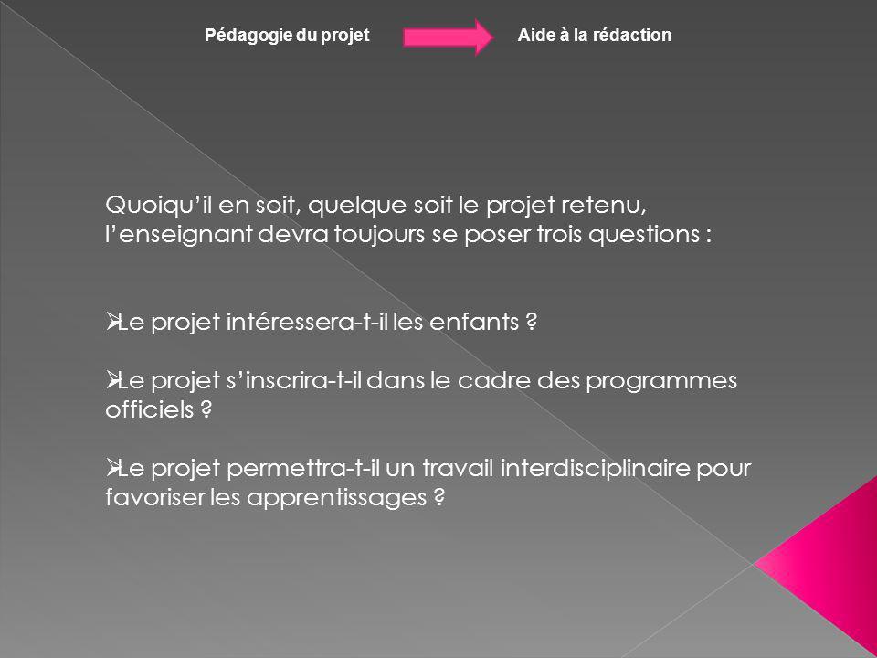 Pédagogie du projet Aide à la rédaction