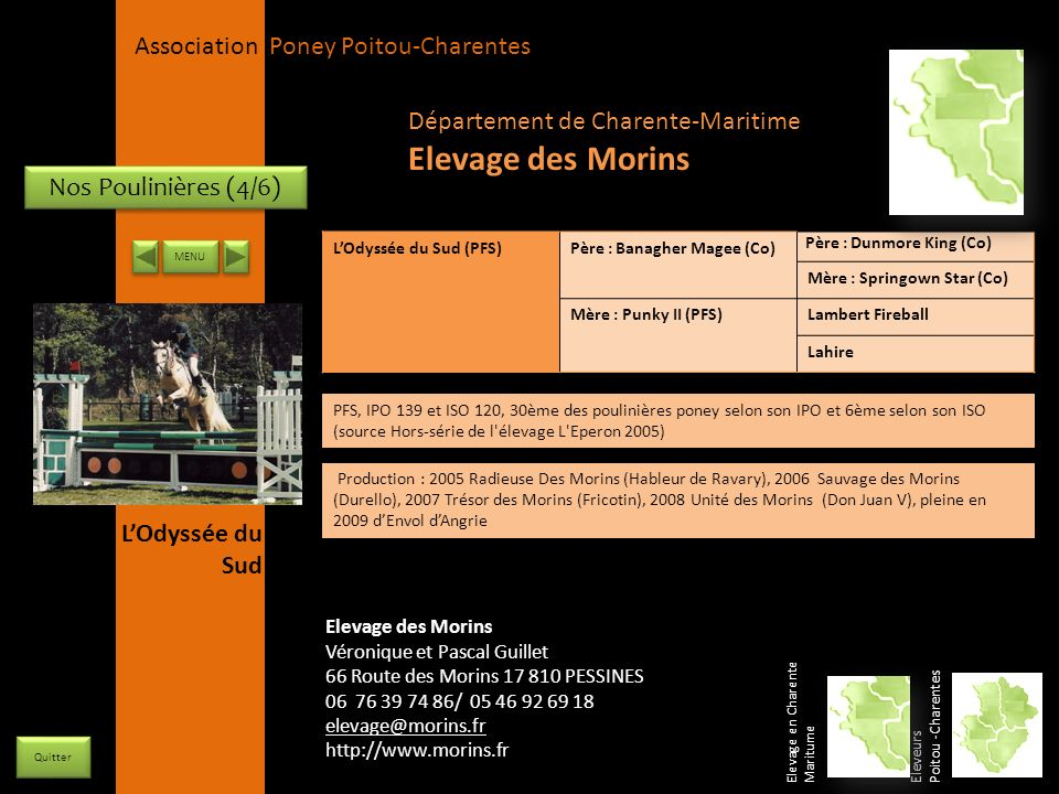 Elevage des Morins Département de Charente-Maritime