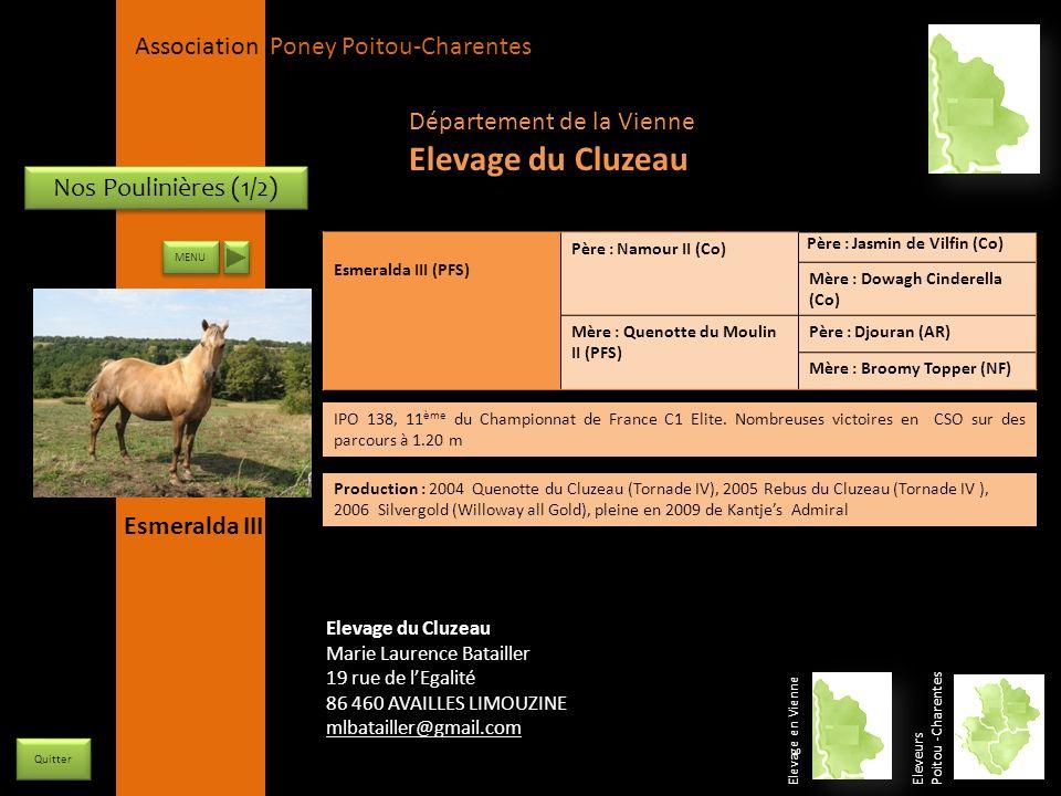 Elevage du Cluzeau Département de la Vienne Nos Poulinières (1/2)