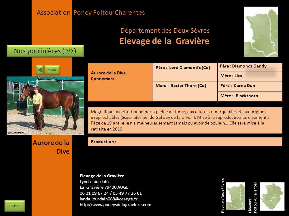 Elevage de la Gravière Département des Deux-Sèvres