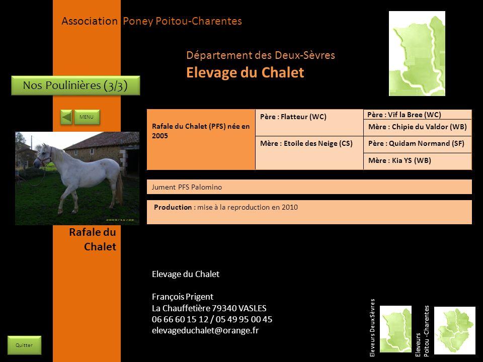 Elevage du Chalet Département des Deux-Sèvres Nos Poulinières (3/3)