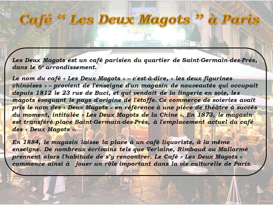 Café '' Les Deux Magots '' à Paris