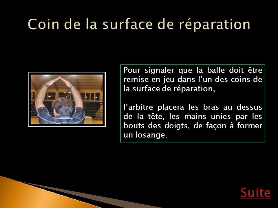 Coin de la surface de réparation